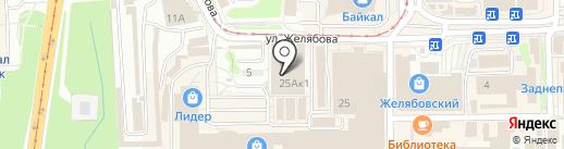 Алексеевский на карте Смоленска