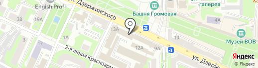 Управление МВД России по Смоленской области на карте Смоленска