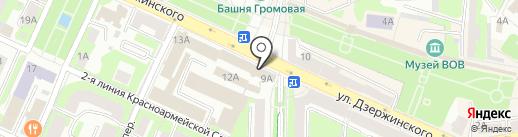 Управление имущественных, земельных и жилищных отношений на карте Смоленска