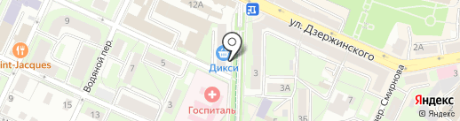 Оптимист на карте Смоленска