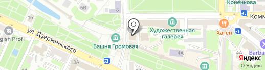 Смоленский городской Совет на карте Смоленска