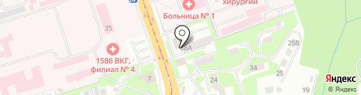 Estacada на карте Смоленска