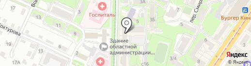 Визовый центр на карте Смоленска
