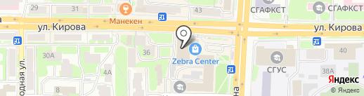 Авантаж на карте Смоленска