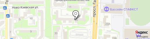 Цветочная лавка на карте Смоленска