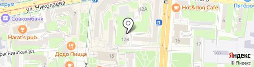 Wert на карте Смоленска