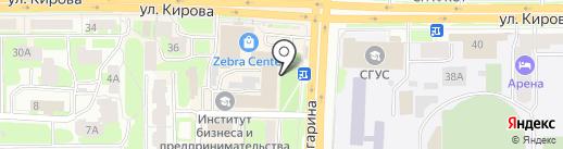 Фортека на карте Смоленска