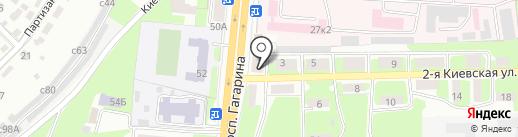 Фрегат на карте Смоленска