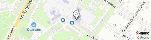 Средняя общеобразовательная школа №30 на карте Смоленска