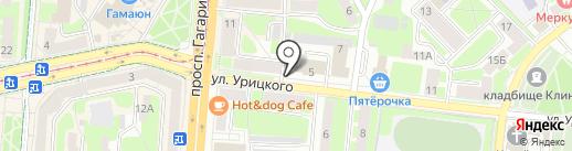 Смолсеть на карте Смоленска