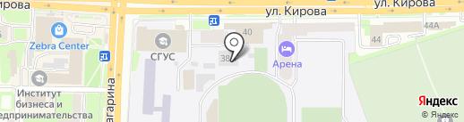 Олимпийская на карте Смоленска