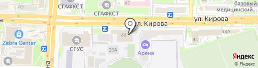Прачечная самообслуживания на карте Смоленска