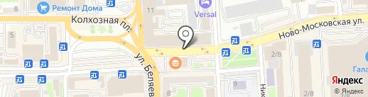 Банкомат, Газэнергобанк на карте Смоленска
