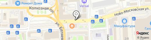 Авиа-сад на карте Смоленска