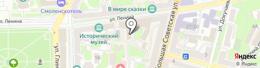 Я на карте Смоленска