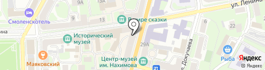 В центре на карте Смоленска