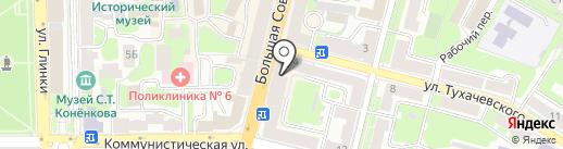 Банкомат, СКБ-банк, ПАО на карте Смоленска
