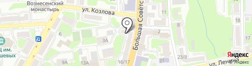 Золотые ручки на карте Смоленска