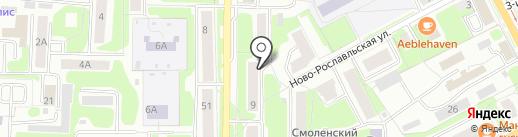 Участковый пункт полиции №2 в Промышленном районе на карте Смоленска