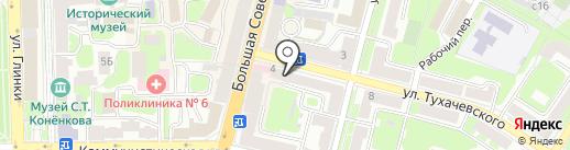 Теремок на карте Смоленска