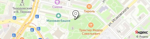 Киоск по продаже печатной продукции на карте Смоленска