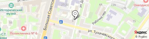 Участковый пункт полиции №1 в Промышленном районе на карте Смоленска
