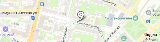 Стадион на карте Смоленска