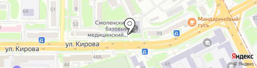 Смоленский базовый медицинский колледж на карте Смоленска