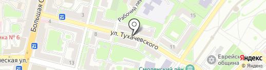 Тери Яки на карте Смоленска