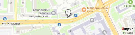 Нотариус Струженкова М.П. на карте Смоленска