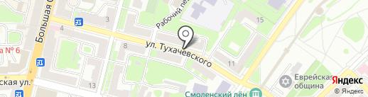 Печенька на карте Смоленска
