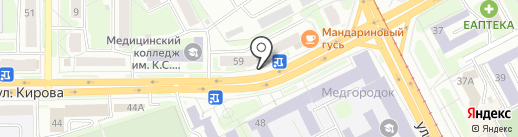 Отражение на карте Смоленска