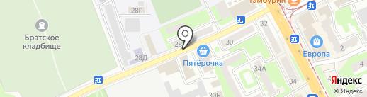 Синий Зеленый на карте Смоленска