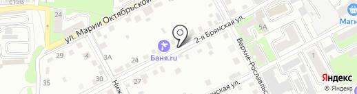 Баня на дровах на карте Смоленска