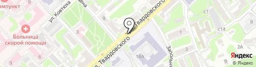Иоланта на карте Смоленска