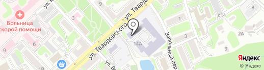 Средняя общеобразовательная школа №27 на карте Смоленска