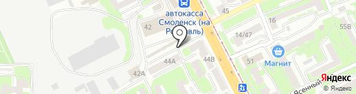 Автомагазин на карте Смоленска