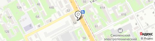 АвтоКорт на карте Смоленска