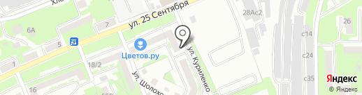 Форвита на карте Смоленска