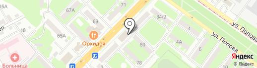 Архипова Е.А. на карте Смоленска