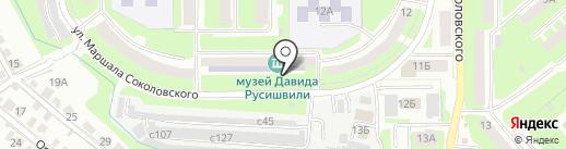 Детская школа искусств №8 на карте Смоленска