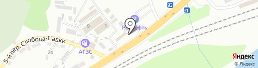 Заречная ярмарка на карте Смоленска