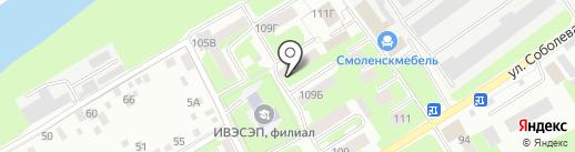 Участковый пункт полиции №3 в Промышленном районе на карте Смоленска