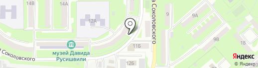 Участковый пункт полиции №5 в Промышленном районе на карте Смоленска
