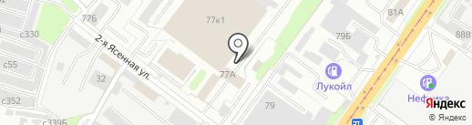 Автоколонна №1308, МУП на карте Смоленска