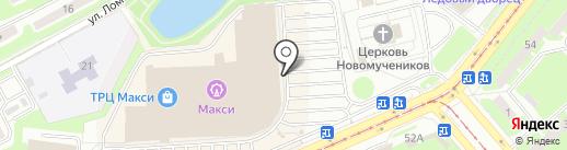 Счастливый взгляд на карте Смоленска