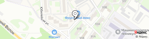 Юбилейный на карте Смоленска