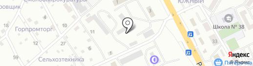 Смолтехнострой на карте Смоленска