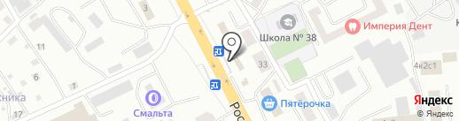 Киоск по продаже рыбы и кур на карте Смоленска
