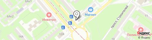 Сто лото на карте Смоленска